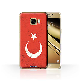 STUFF4 Case/Cover for Samsung Galaxy C7 / Turkey/Turkish Design / Flags Collection Mobile phones
