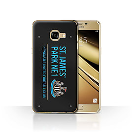 Official Newcastle United FC Case/Cover for Samsung Galaxy C5/Black/Blue Design/St James Park Sign Mobile phones