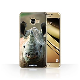 STUFF4 Case/Cover for Samsung Galaxy C5 / Rhino Design / Wildlife Animals Collection Mobile phones