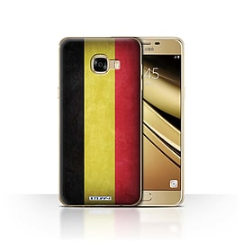 STUFF4 Case/Cover for Samsung Galaxy C5 / Belgium Design / Flags Collection Mobile phones