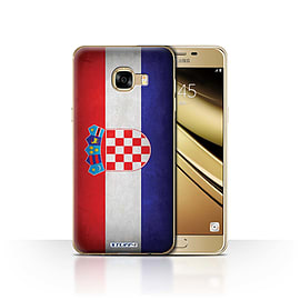 STUFF4 Case/Cover for Samsung Galaxy C5 / Croatia/Croatian Design / Flags Collection Mobile phones