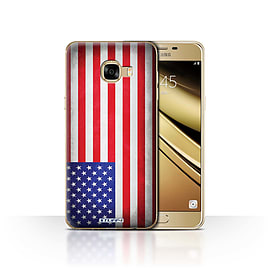 STUFF4 Case/Cover for Samsung Galaxy C5 / America/American/USA Design / Flags Collection Mobile phones