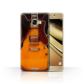STUFF4 Case/Cover for Samsung Galaxy C5 / Semi Acoustic Design / Guitar Collection Mobile phones