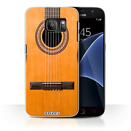 STUFF4 Case/Cover for Samsung Galaxy S7/G930 / Wood/Wooden Acoustic Design / Guitar Collection Mobile phones