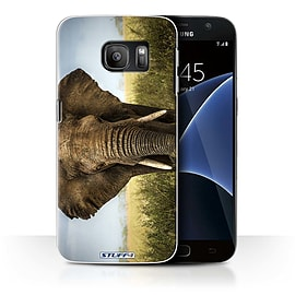 STUFF4 Case/Cover for Samsung Galaxy S7/G930 / Elephant Design / Wildlife Animals Collection Mobile phones