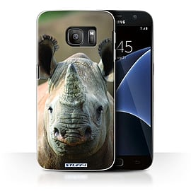 STUFF4 Case/Cover for Samsung Galaxy S7/G930 / Rhino Design / Wildlife Animals Collection Mobile phones