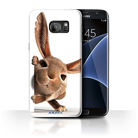 STUFF4 Case/Cover for Samsung Galaxy S7 Edge/G935 / Peeking Bunny Design / Funny Animals Collection Mobile phones