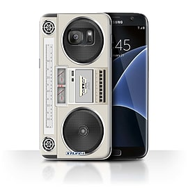 STUFF4 Case/Cover for Samsung Galaxy S7 Edge/G935 / Boombox Design / Retro Tech Collection Mobile phones