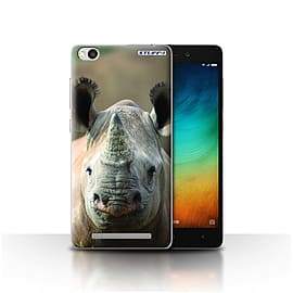 STUFF4 Case/Cover for Xiaomi Redmi 3 / Rhino Design / Wildlife Animals Collection Mobile phones
