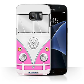 STUFF4 Case/Cover for Samsung Galaxy S7/G930 / Pink Design / VW Camper Van Collection Mobile phones