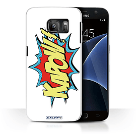 STUFF4 Case/Cover for Samsung Galaxy S7/G930 / Kapow! Design / Comics/Cartoon Words Collection Mobile phones