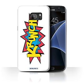 STUFF4 Case/Cover for Samsung Galaxy S7 Edge/G935 / Krunch Design / Comics/Cartoon Words Collection Mobile phones