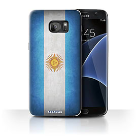 STUFF4 Case/Cover for Samsung Galaxy S7 Edge/G935 / Argentina/Argentinean Design / Flags Collection Mobile phones