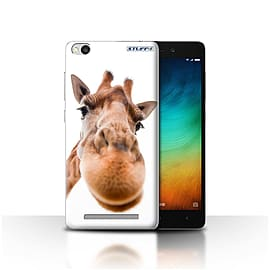 STUFF4 Case/Cover for Xiaomi Redmi 3 / Closeup Giraffe Design / Funny Animals Collection Mobile phones
