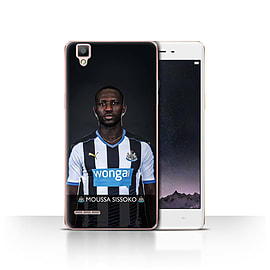 Official Newcastle United FC Case/Cover for Oppo F1/Sissoko Design/NUFC Football Player 15/16 Mobile phones
