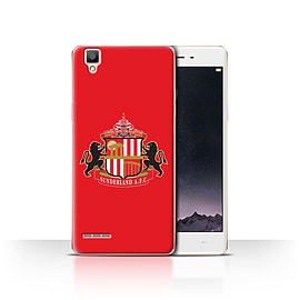 Official Sunderland AFC Case/Cover for Oppo F1 / Red Design / SAFC Football Club Crest Collection Mobile phones