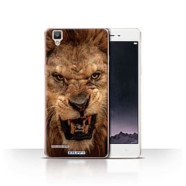 STUFF4 Case/Cover for Oppo F1 / Lion Design / Wildlife Animals Collection Mobile phones