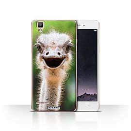 STUFF4 Case/Cover for Oppo F1 / Ostrich/Emu Design / Wildlife Animals Collection Mobile phones