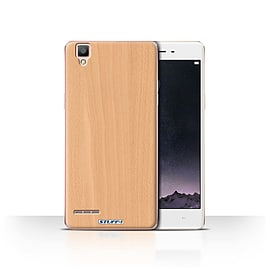 STUFF4 Case/Cover for Oppo F1 / Beech Design / Wood Grain Effect/Pattern Collection Mobile phones
