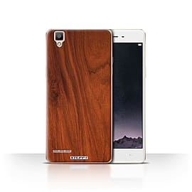 STUFF4 Case/Cover for Oppo F1 / Mahogany Design / Wood Grain Effect/Pattern Collection Mobile phones