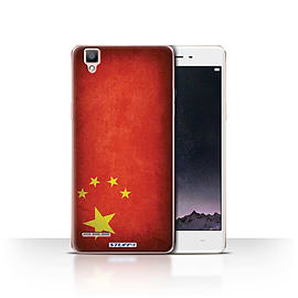 STUFF4 Case/Cover for Oppo F1 / China/Chinese Design / Flags Collection Mobile phones