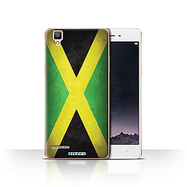 STUFF4 Case/Cover for Oppo F1 / Jamaica/Jamaican Design / Flags Collection Mobile phones