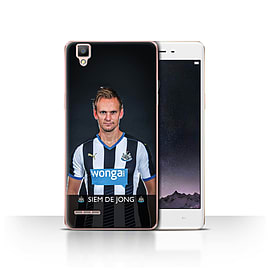 Official Newcastle United FC Case/Cover for Oppo F1/De Jong Design/NUFC Football Player 15/16 Mobile phones