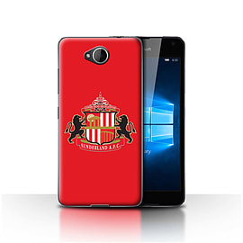 Official Sunderland AFC Case/Cover for Microsoft Lumia 650/Red Design/SAFC Football Club Crest Mobile phones