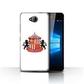 Official Sunderland AFC Case/Cover for Microsoft Lumia 650/White Design/SAFC Football Club Crest Mobile phones