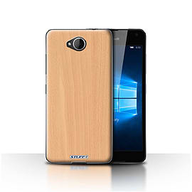 STUFF4 Case/Cover for Microsoft Lumia 650 / Beech Design / Wood Grain Effect/Pattern Collection Mobile phones