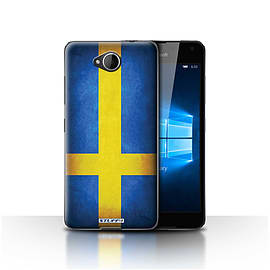 STUFF4 Case/Cover for Microsoft Lumia 650 / Sweden/Swedish Design / Flags Collection Mobile phones