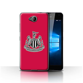 Official Newcastle United FC Case/Cover for Microsoft Lumia 650/Mono/Red Design/NUFC Football Crest Mobile phones
