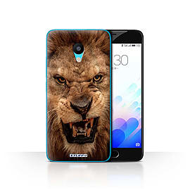 STUFF4 Case/Cover for Meizu M3 / Lion Design / Wildlife Animals Collection Mobile phones