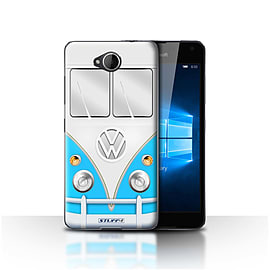 STUFF4 Case/Cover for Microsoft Lumia 650 / Blue Design / VW Camper Van Collection Mobile phones
