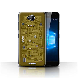 STUFF4 Case/Cover for Microsoft Lumia 650 / Yellow Design / Circuit Board Collection Mobile phones