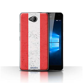 STUFF4 Case/Cover for Microsoft Lumia 650 / Austria/Austrian Design / Flags Collection Mobile phones
