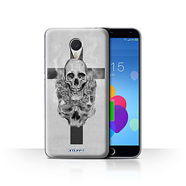 STUFF4 Case/Cover for Meizu M3 Note / Cross/Crucifix Design / Skull Art Sketch Collection Mobile phones