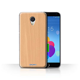 STUFF4 Case/Cover for Meizu M3 Note / Beech Design / Wood Grain Effect/Pattern Collection Mobile phones