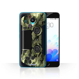 STUFF4 Case/Cover for Meizu M3 / Green Camouflage Design / Playstation PS4 Collection Mobile phones