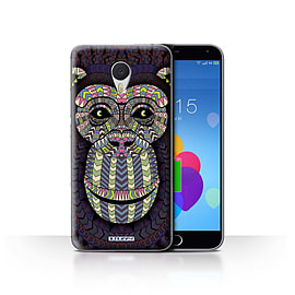 STUFF4 Case/Cover for Meizu M3 Note / Monkey-Colour Design / Aztec Animal Design Collection Mobile phones