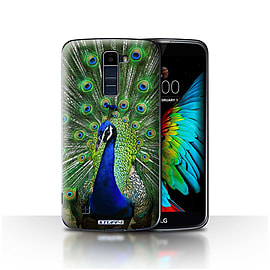 STUFF4 Case/Cover for LG K10 /K420/K430 / Peacock Design / Wildlife Animals Collection Mobile phones