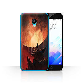 Official Chris Cold Case/Cover for Meizu M3 / Melting Sun Design / Alien World Cosmos Collection Mobile phones
