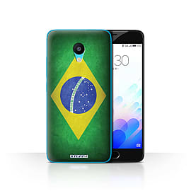 STUFF4 Case/Cover for Meizu M3 / Brazil/Brazilian Design / Flags Collection Mobile phones