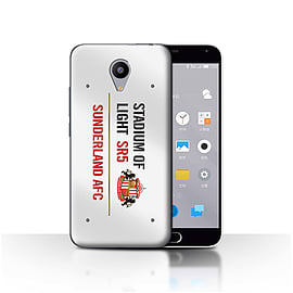 Official Sunderland AFC Case/Cover for Meizu M2/White/Red Design/SAFC Stadium of Light Sign Mobile phones
