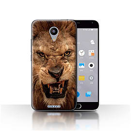 STUFF4 Case/Cover for Meizu M2 / Lion Design / Wildlife Animals Collection Mobile phones