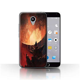 Official Chris Cold Case/Cover for Meizu M2 / Melting Sun Design / Alien World Cosmos Collection Mobile phones