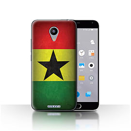 STUFF4 Case/Cover for Meizu M2 / Ghana/Ghanaian Design / Flags Collection Mobile phones