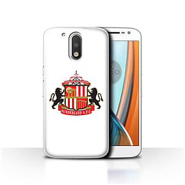 Official Sunderland AFC Case/Cover for Motorola Moto G4 2016/White Design/SAFC Football Club Crest Mobile phones