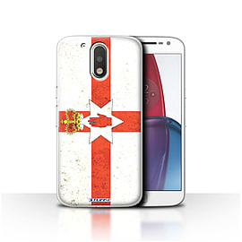 STUFF4 Case/Cover for Motorola Moto G4 Plus 2016 / Northern Ireland Design / Flags Collection Mobile phones