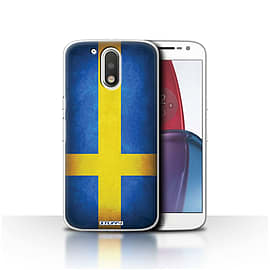 STUFF4 Case/Cover for Motorola Moto G4 Plus 2016 / Sweden/Swedish Design / Flags Collection Mobile phones